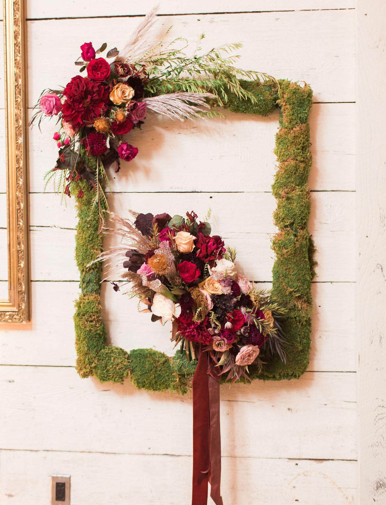 moss flower frame