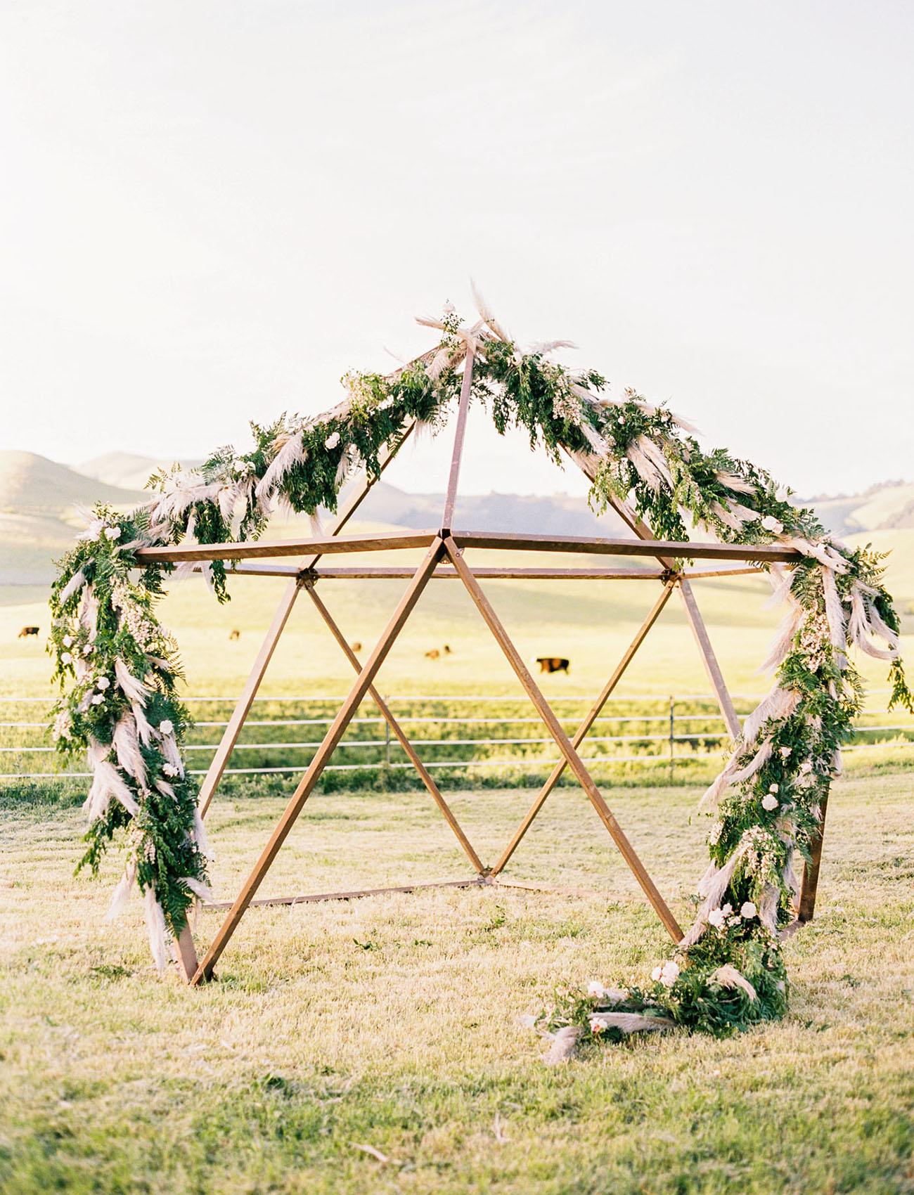greenery garland altar