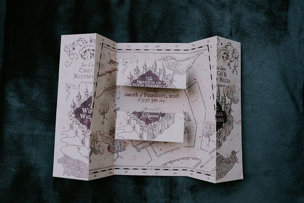marauders map invitaiton