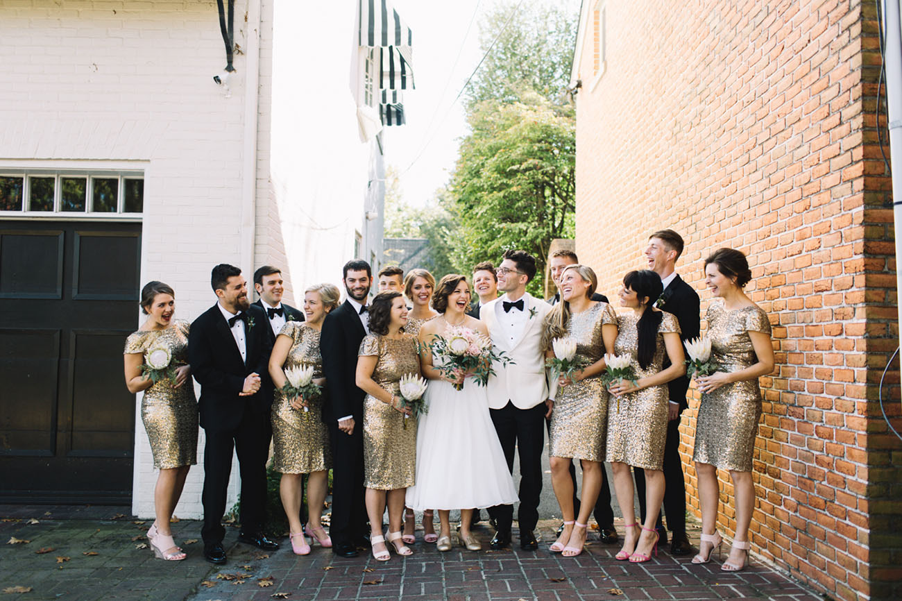 Classy Gold-Dipped Wedding