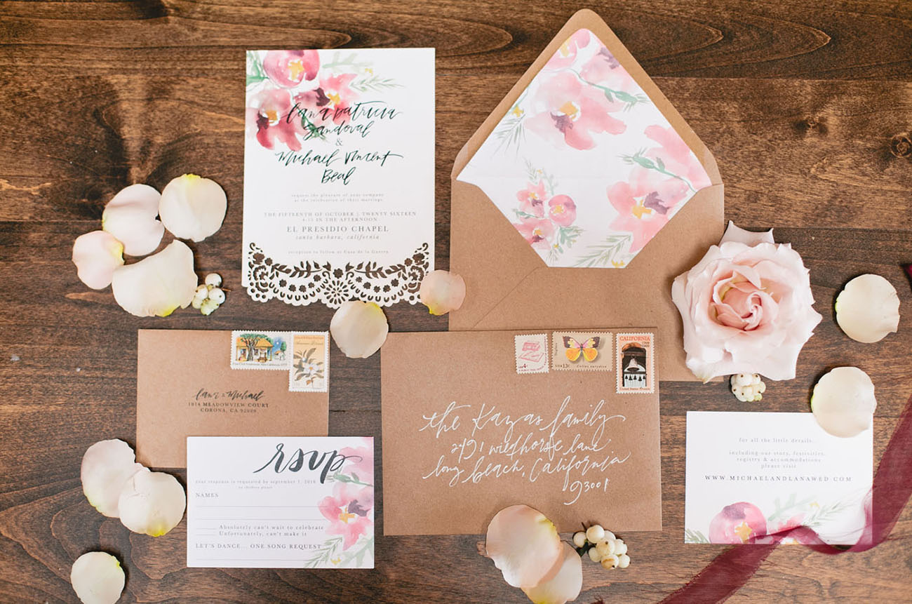 kraft paper invitation