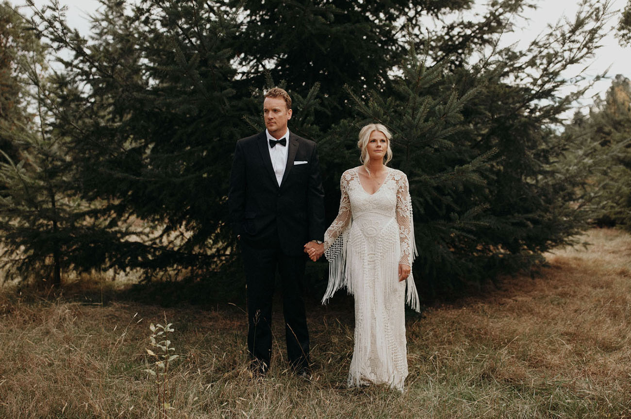 Her Boho Meets His Traditional For a Stylish Seattle Wedding