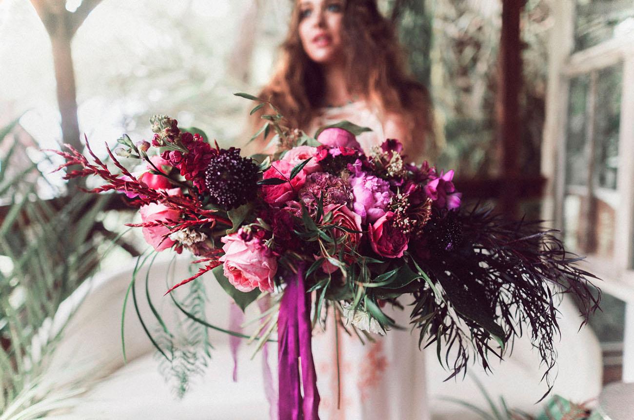 bright pink bouquet