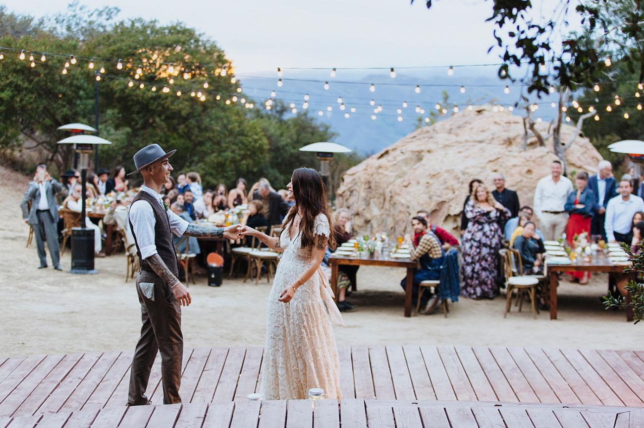 Eclectic edgy malibu mountain wedding green wedding for Malibu house rentals for weddings