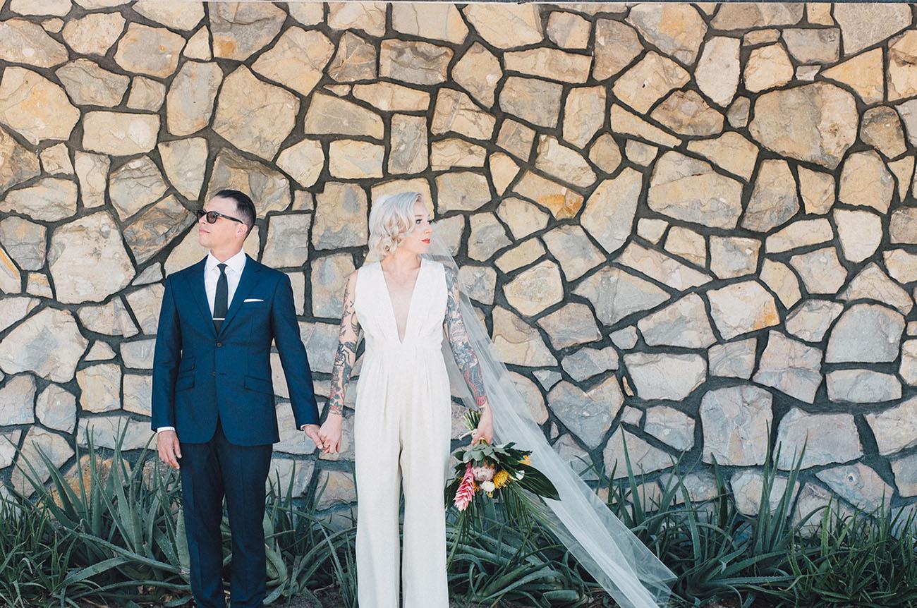 Tropical Palm Springs Wedding