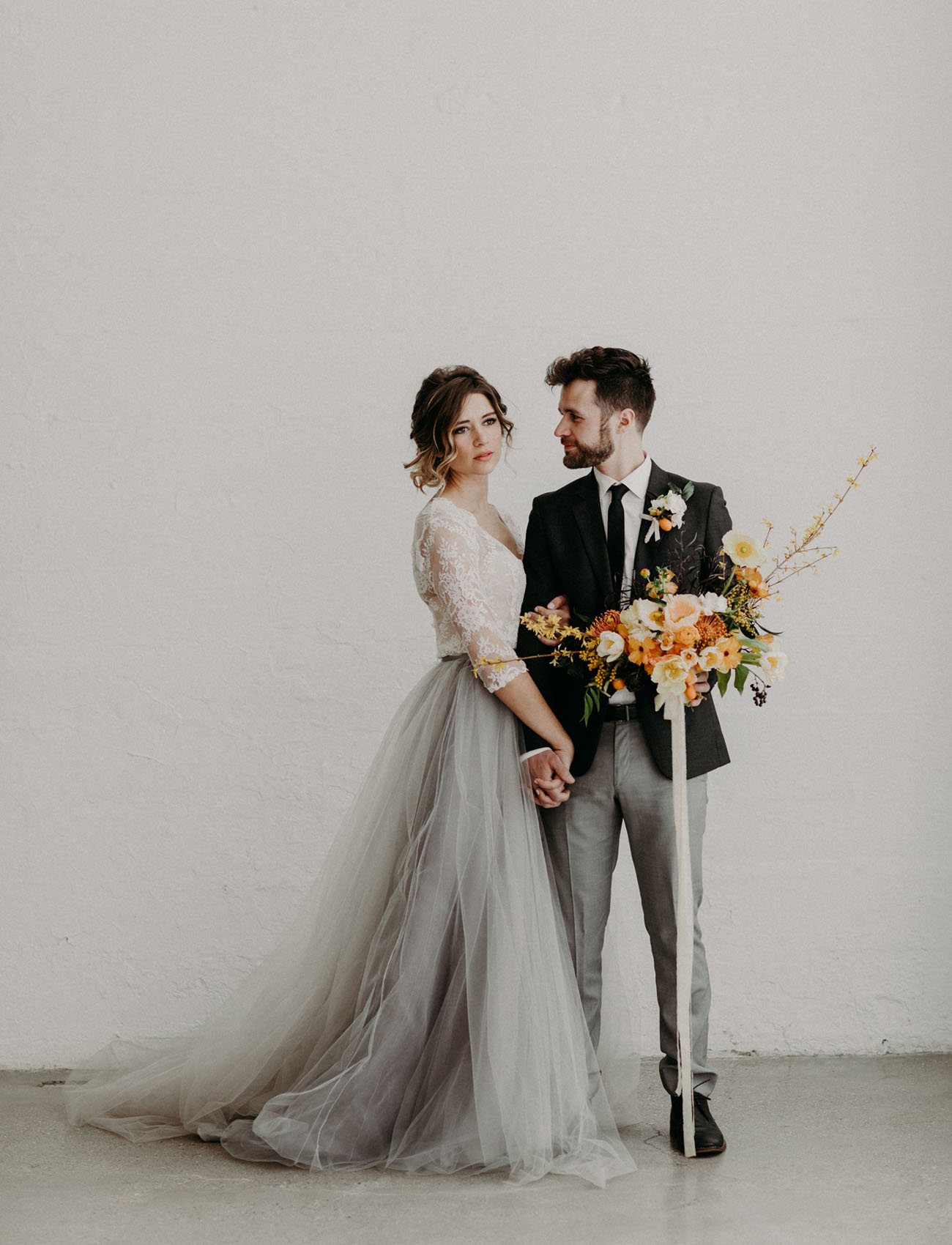 Home Fashion Design Studio Ideas Modern Moody Wedding Inspiration Featuring A Gray Tulle