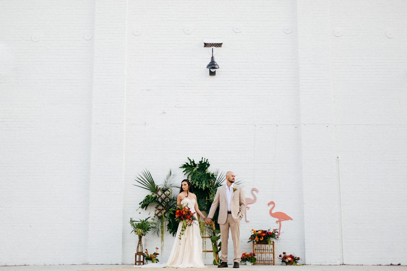 2ff2189d8bb5 Vintage Florida Shoot at a Restored Warehouse Venue - Green Wedding ...