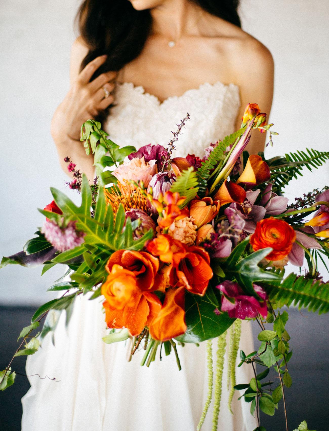 tropical orange bouquet