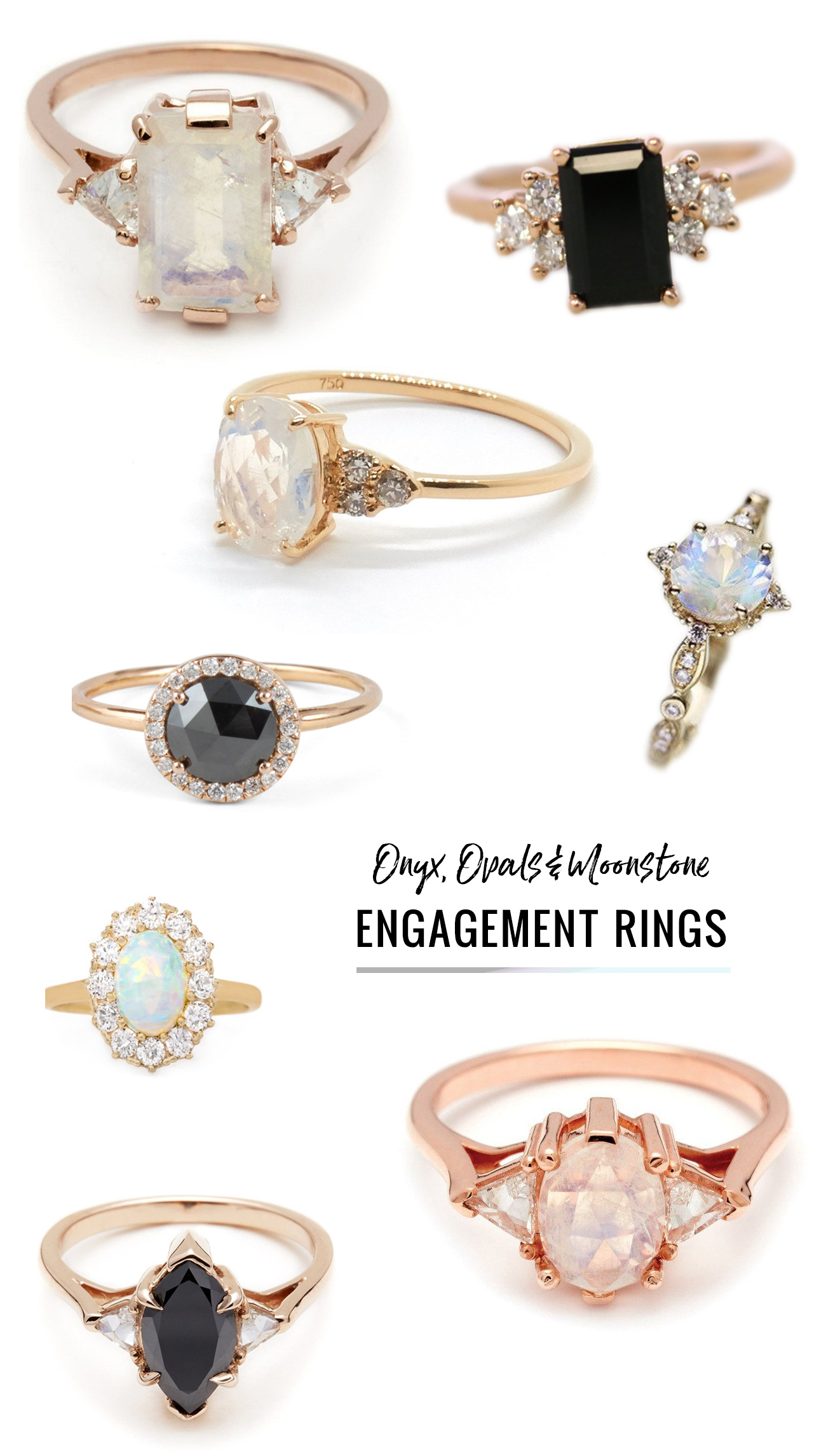 Ditch The Diamond Alternative Engagement Rings Featuring
