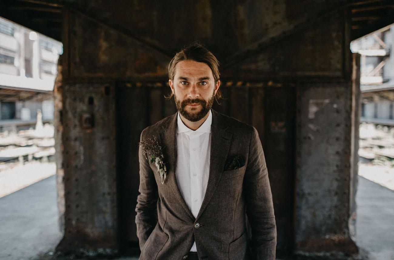 tweed groom