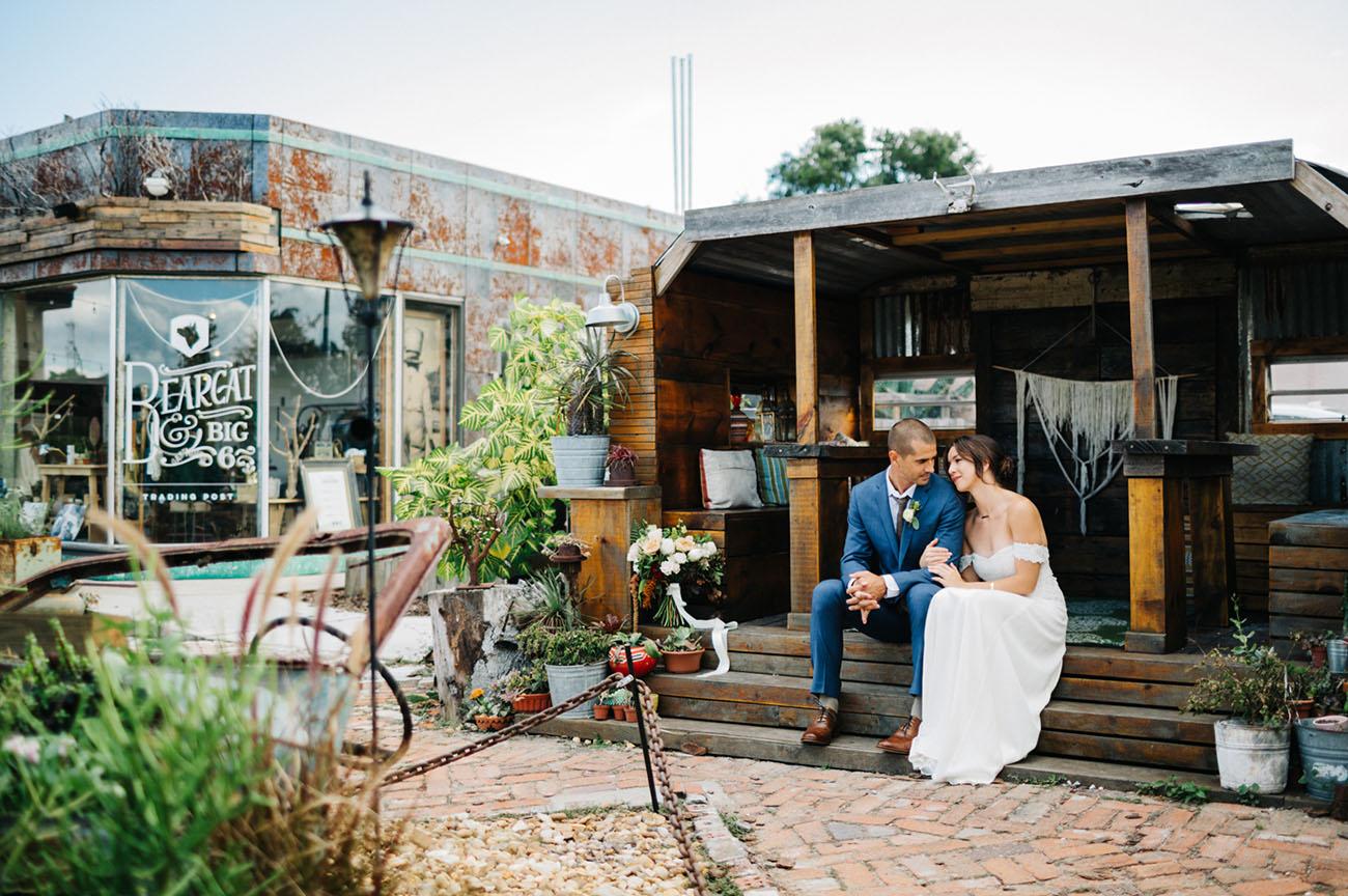 Romantic Wedding in the Street