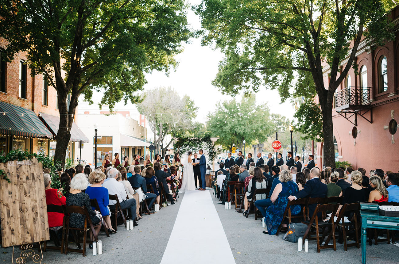 Romantic Wedding in the Street