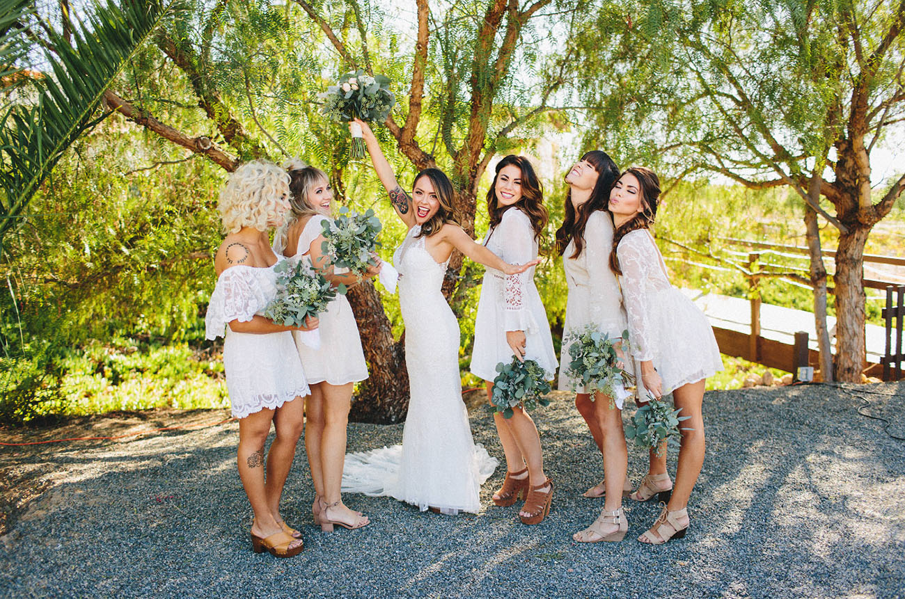 lace bridesmaids