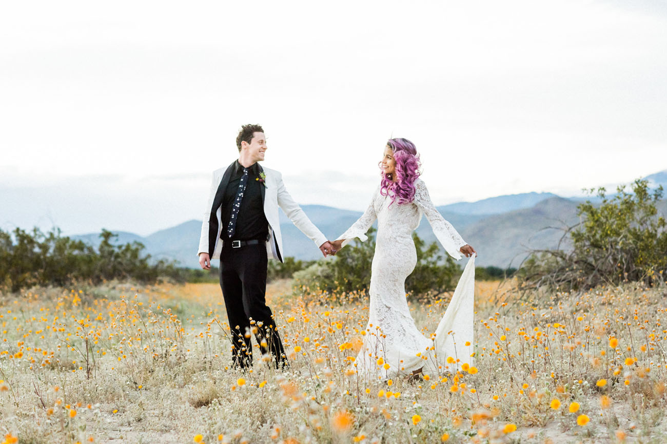 Desert Wildflowers Elopement Inspiration