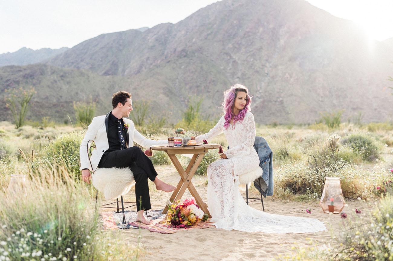 Desert Wildflowers Elopement Inspiration