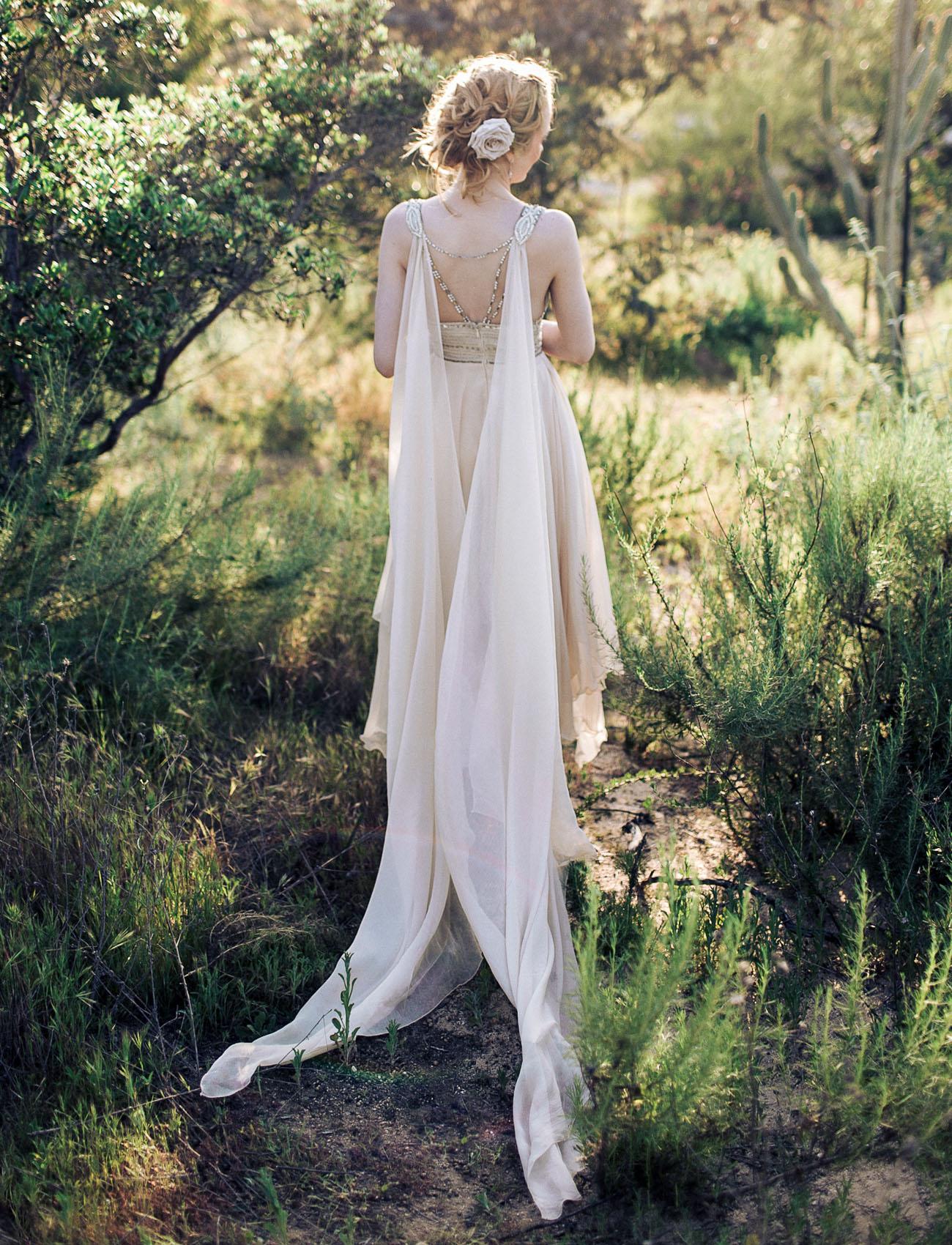 custom cape wedding dress