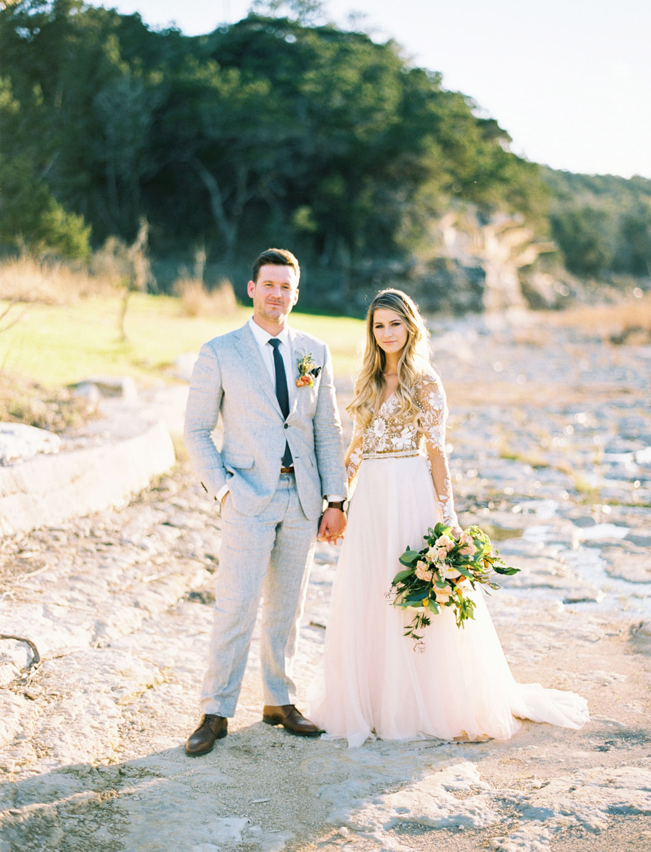 Sweet n Natural Rustic Wedding in the Texas Hill Country Green