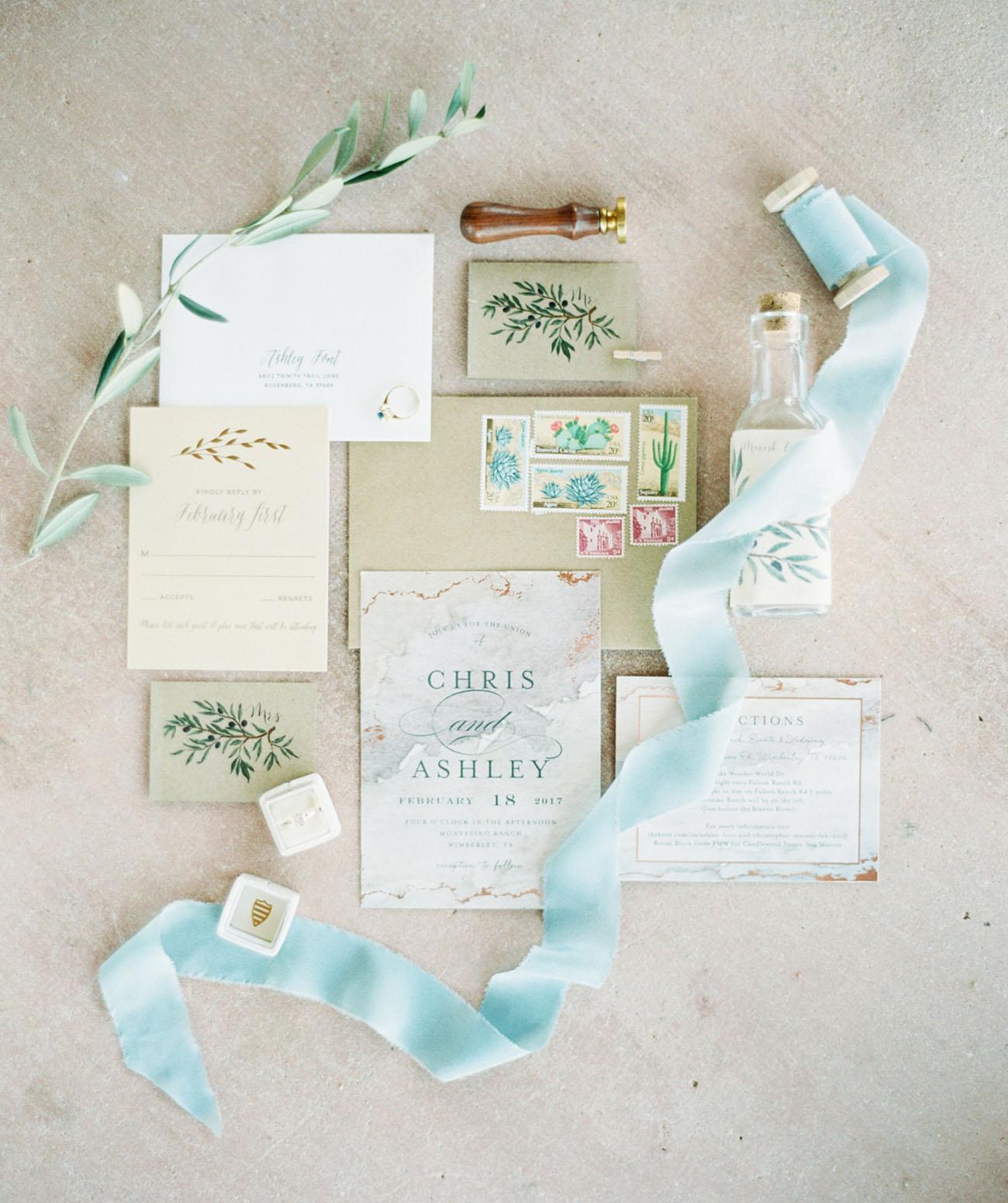 botanical invitation