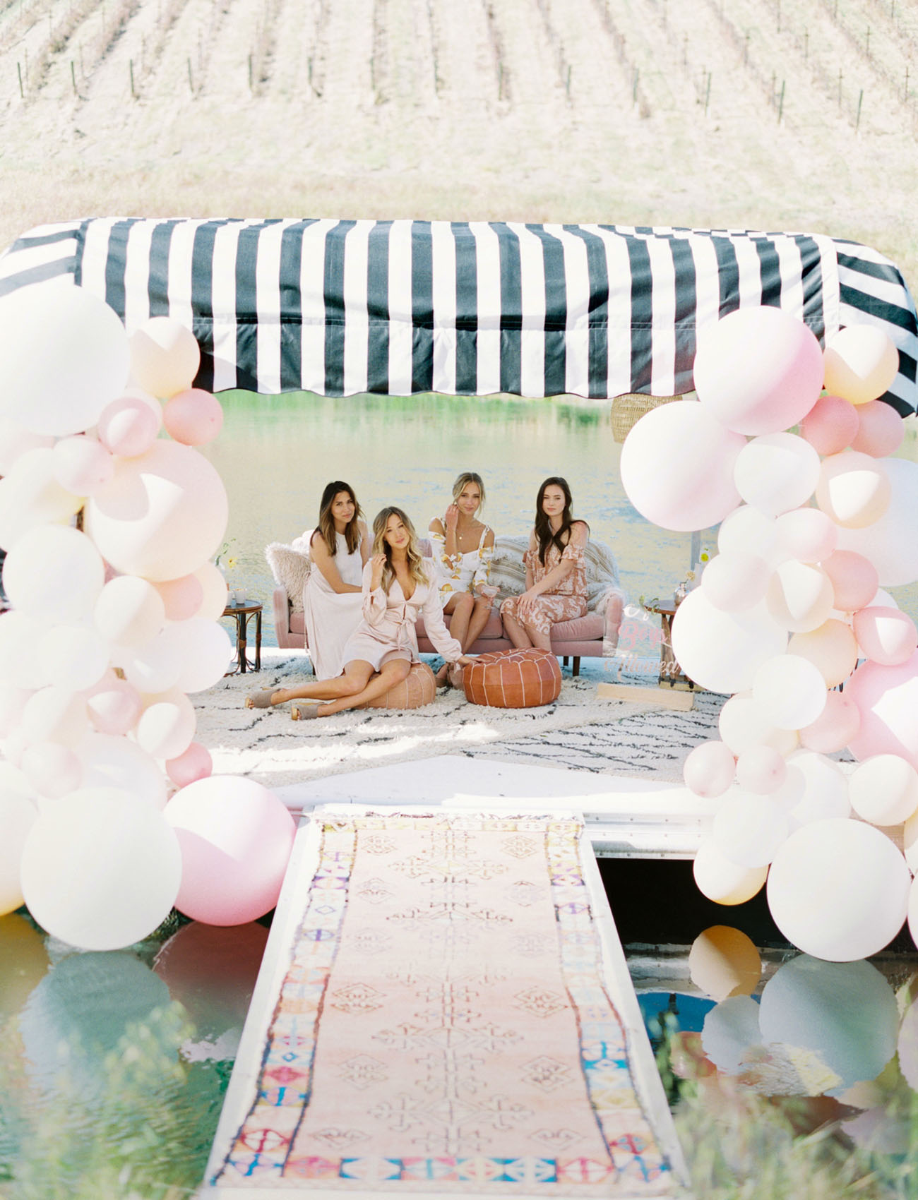 Bachelorette Camp Getaway Inspiration with the CUTEST Restored Trailers!