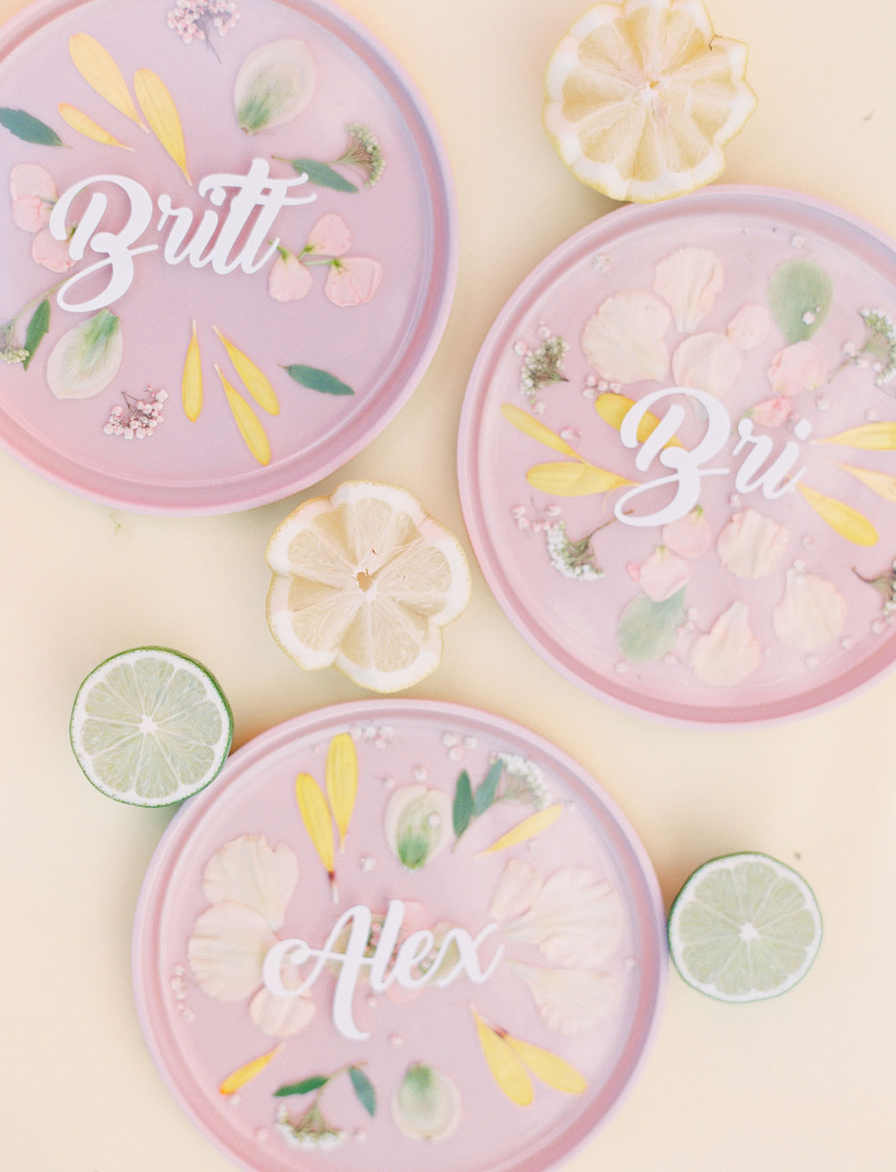 acrylic pressed flowers