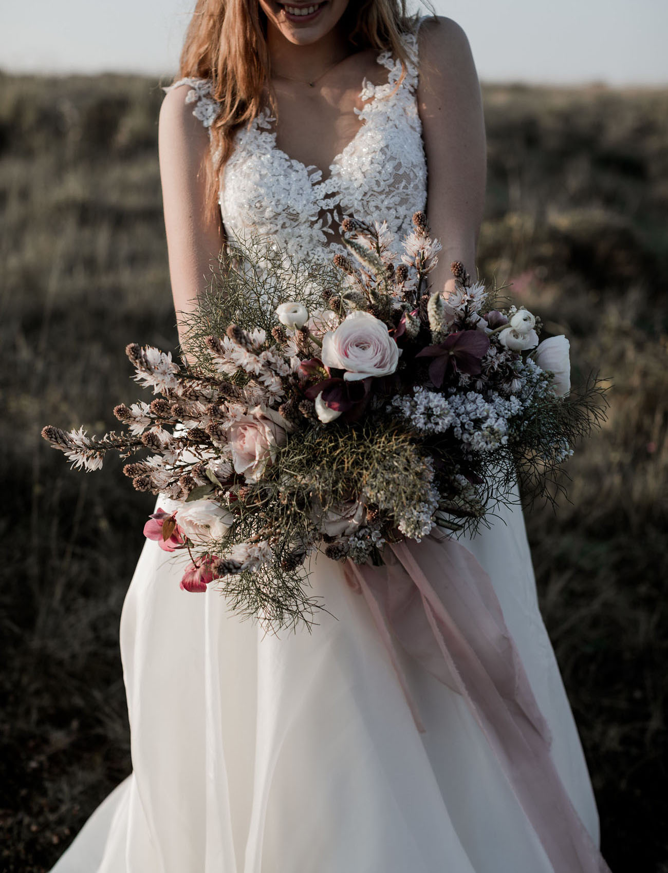 blush tone bouquet
