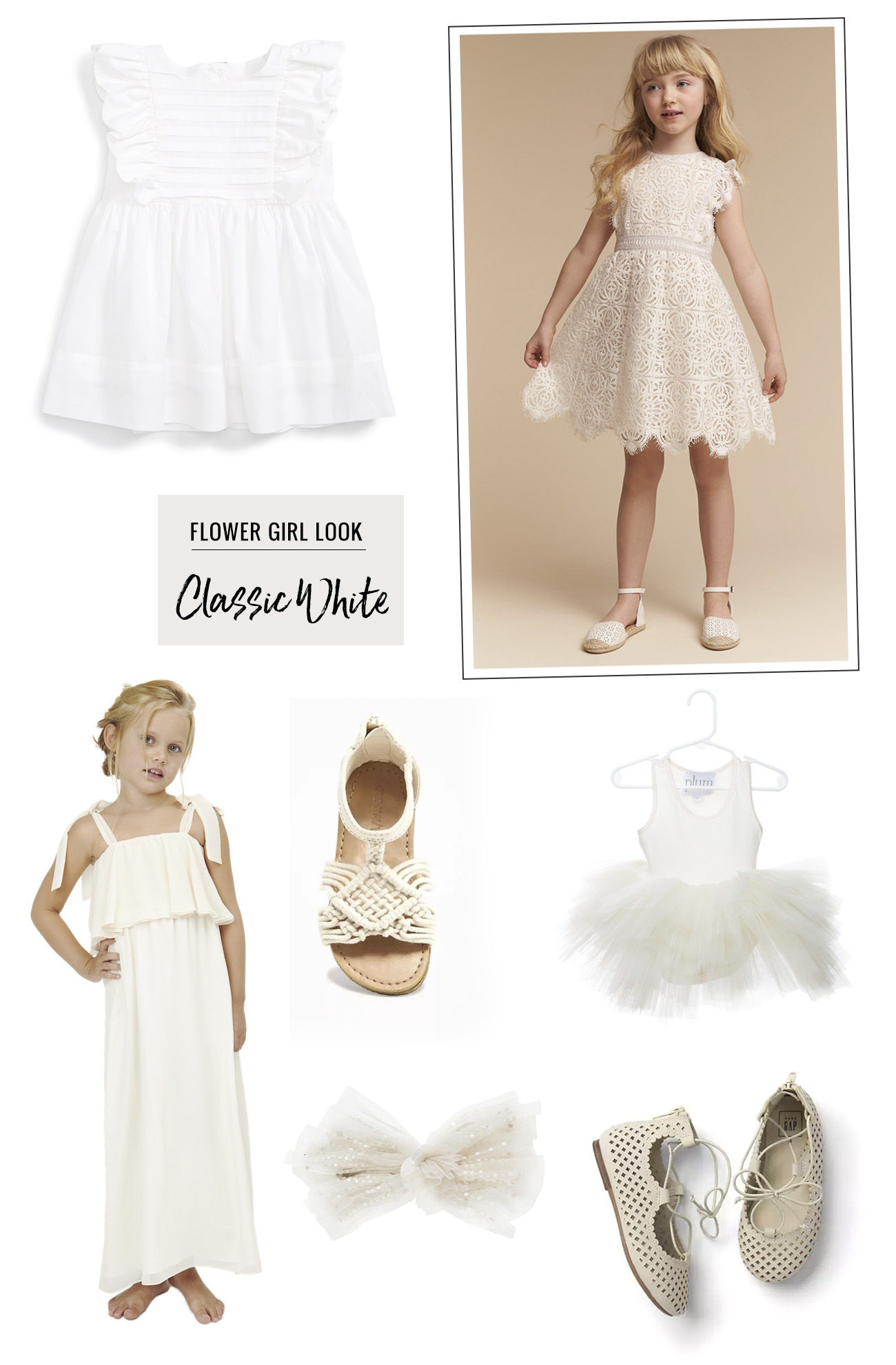 flower girl fashion white dresses
