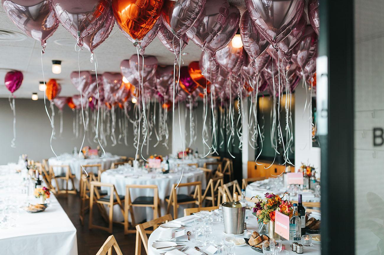 pink heart balloons