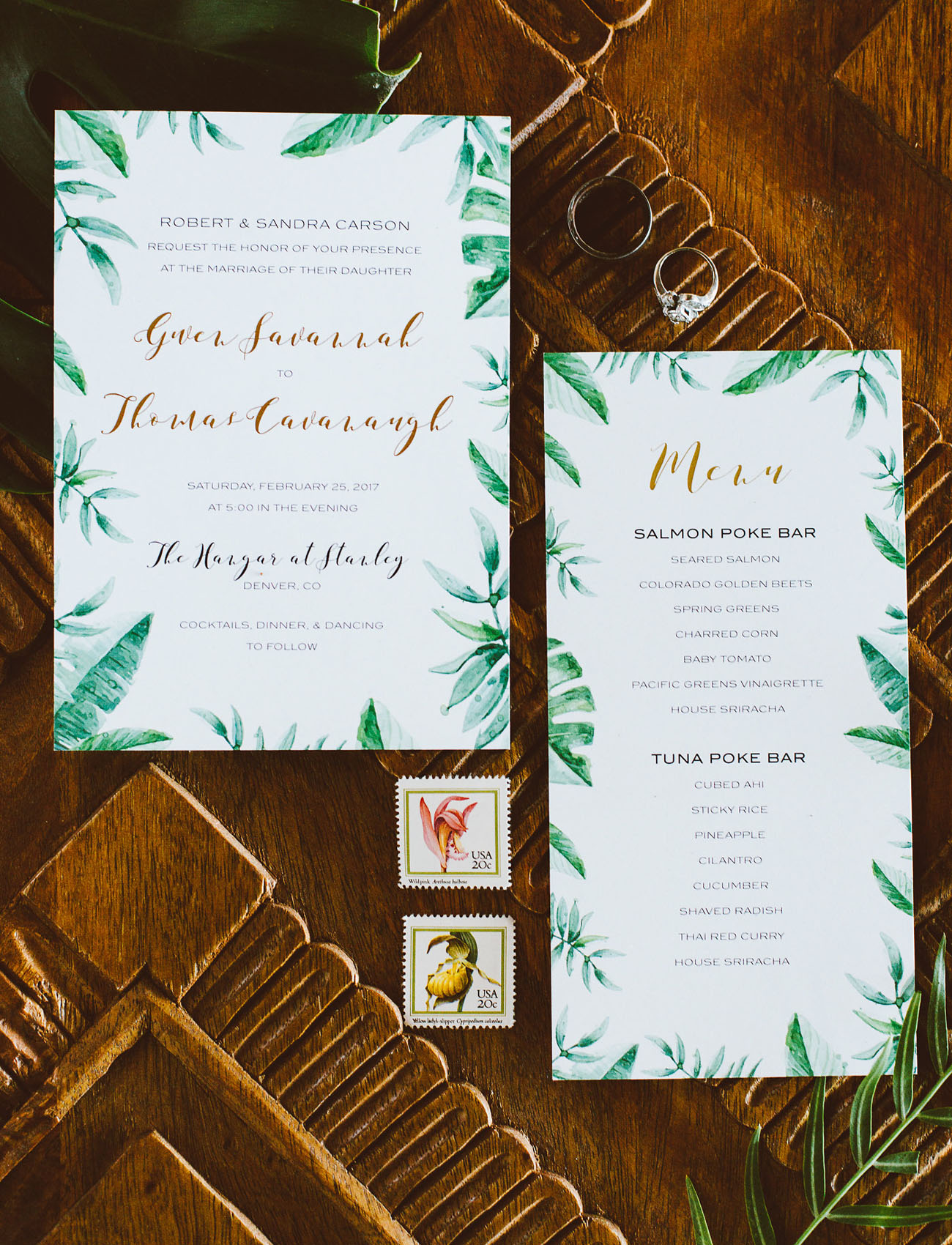 greenery invitation
