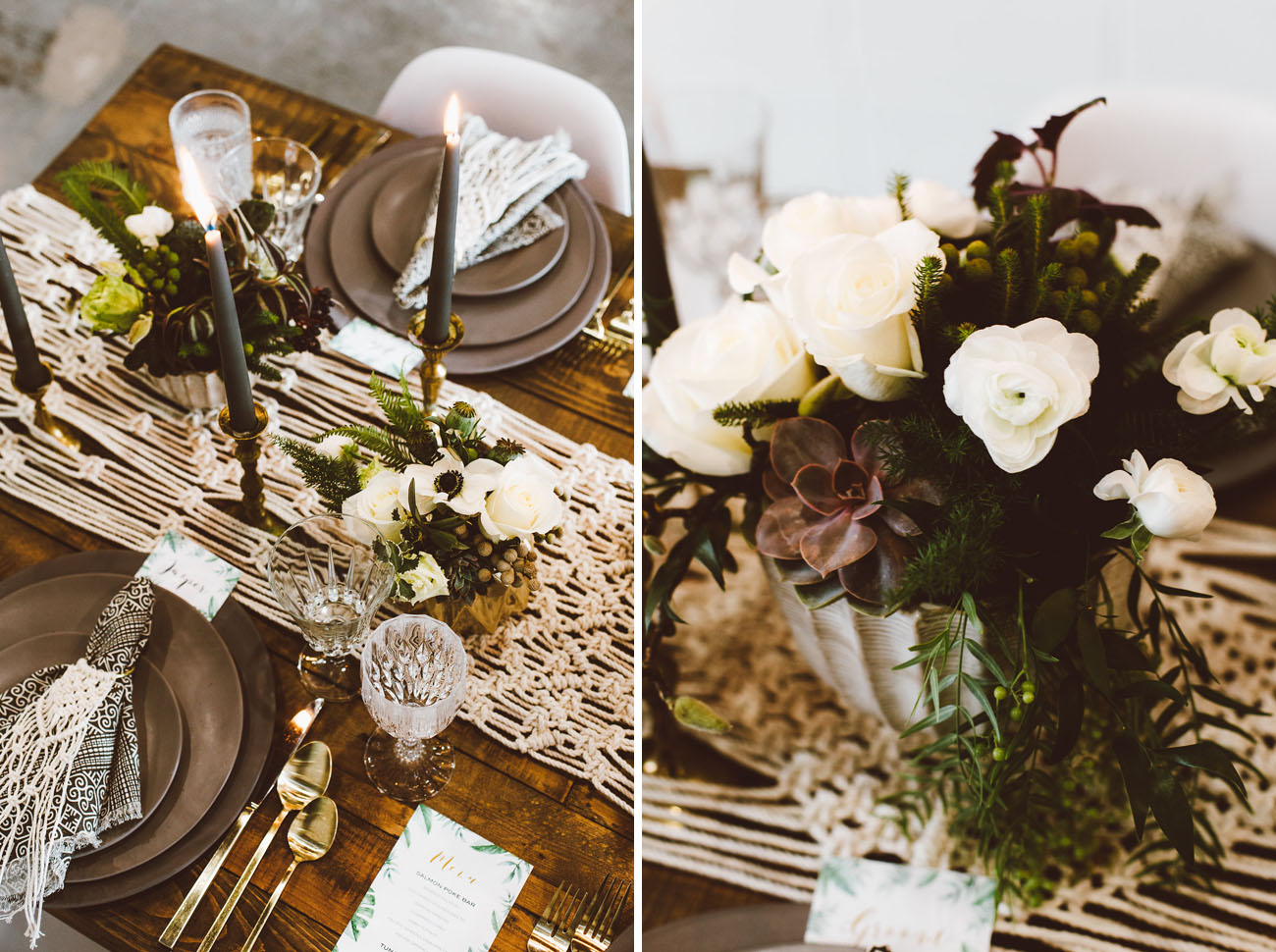 macrame tablescape