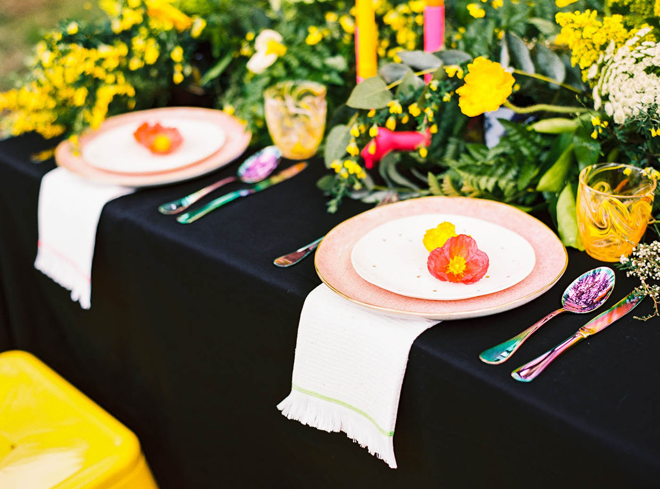 poppy plate setting