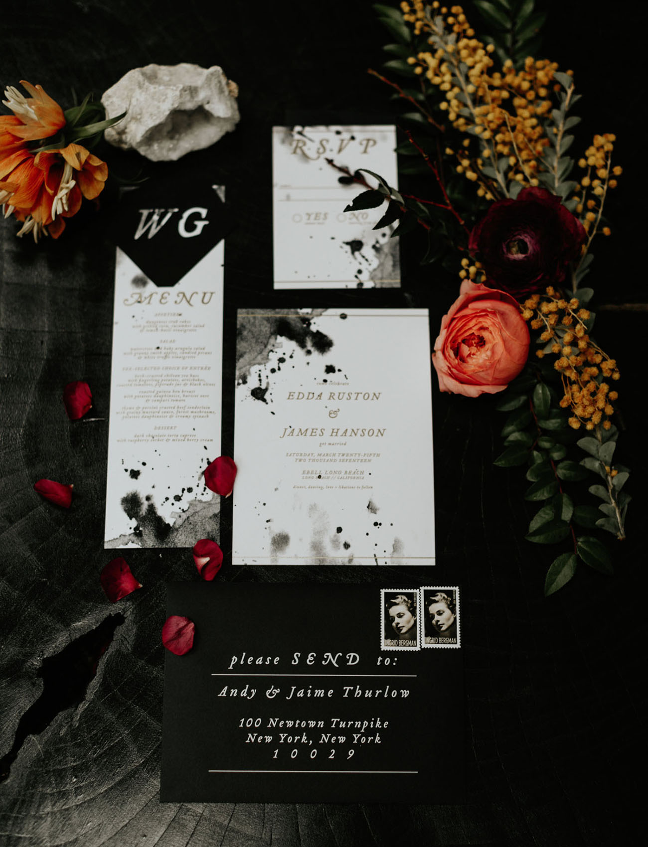 splatter pattern invitation