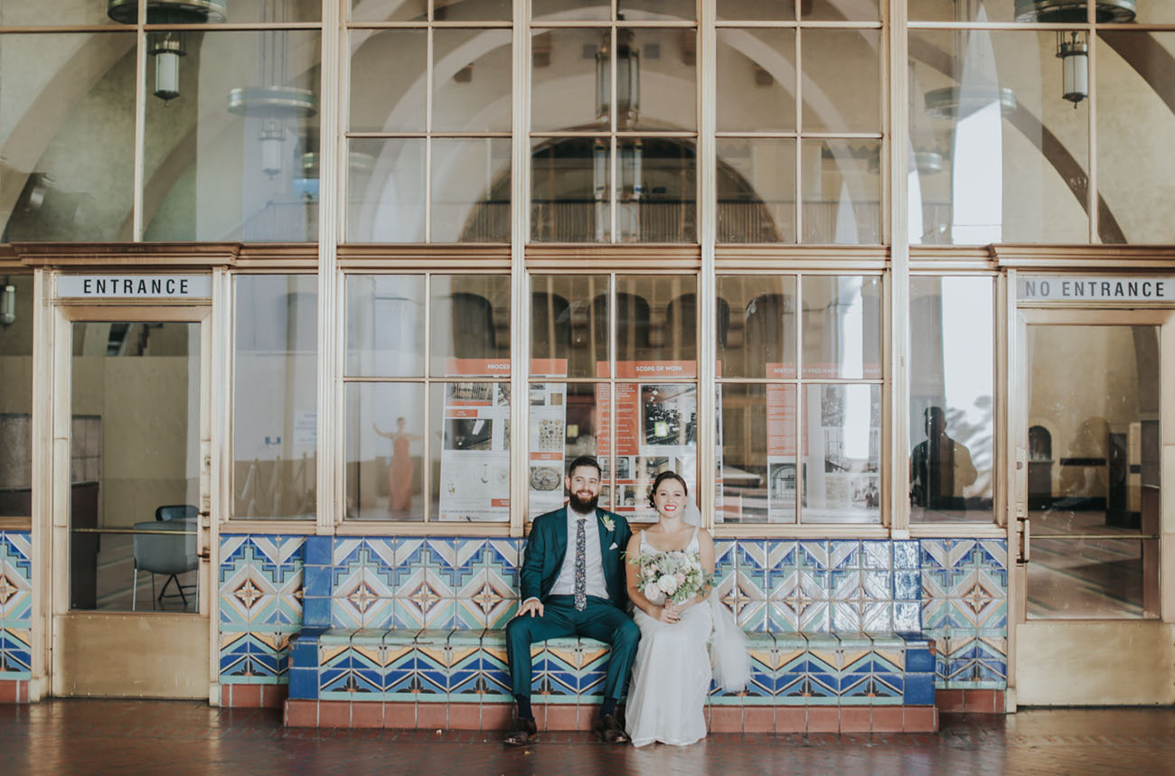 This Couple Got Married at Union Station in Los Angeles!