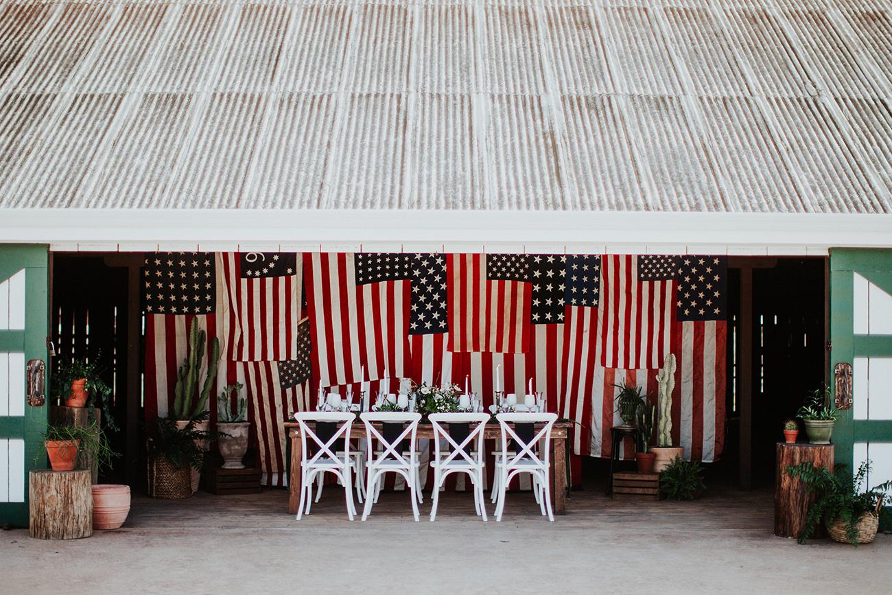 american flag barn decor