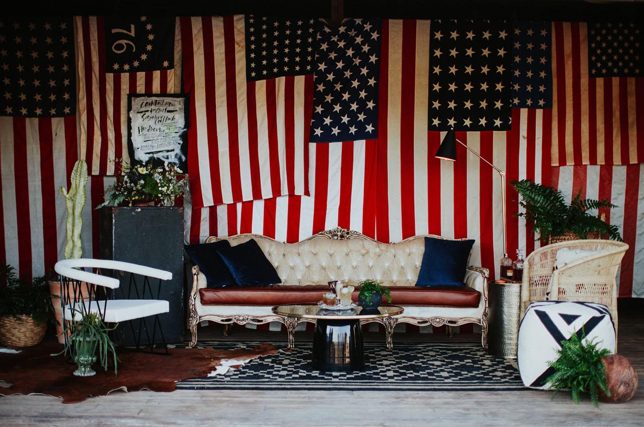americana flag lounge