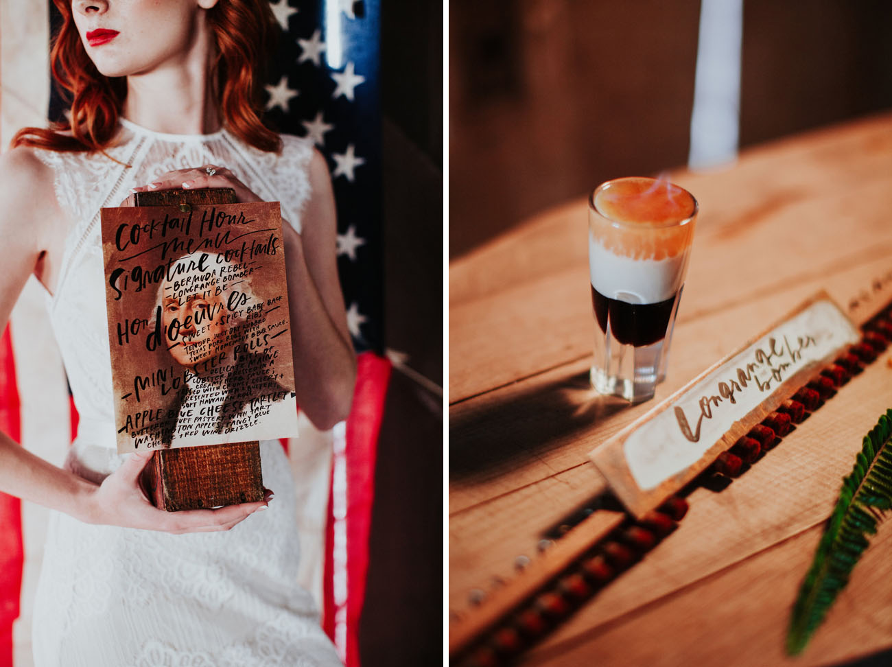 Rustic firefighter wedding