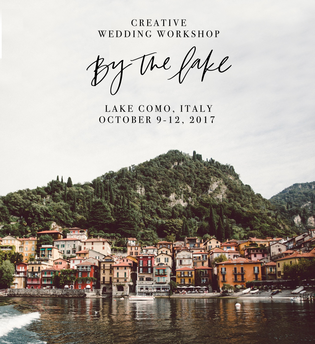 By The Lake Wedding Workshop in Lake Como