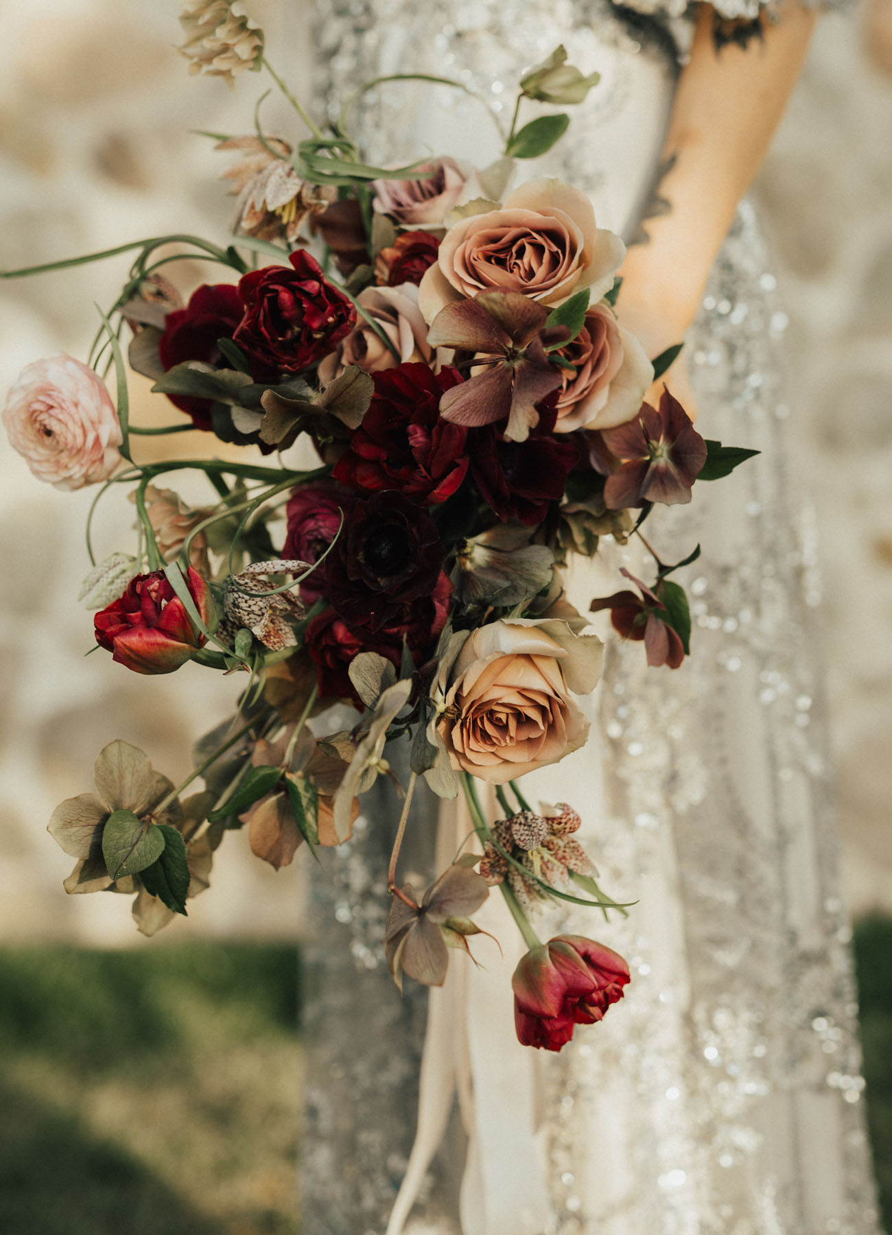 antique rose bouquet