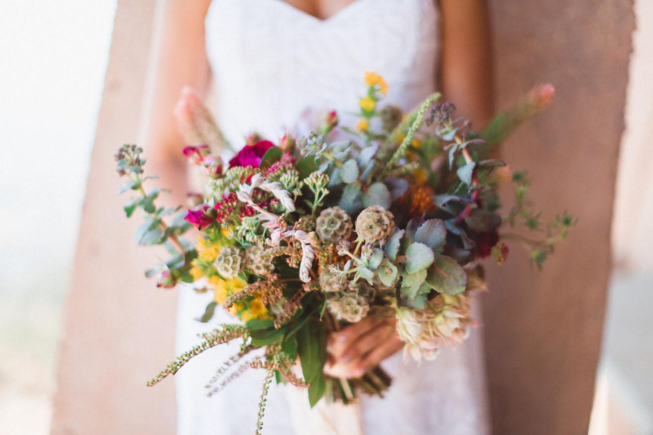 colorful desert bouquet