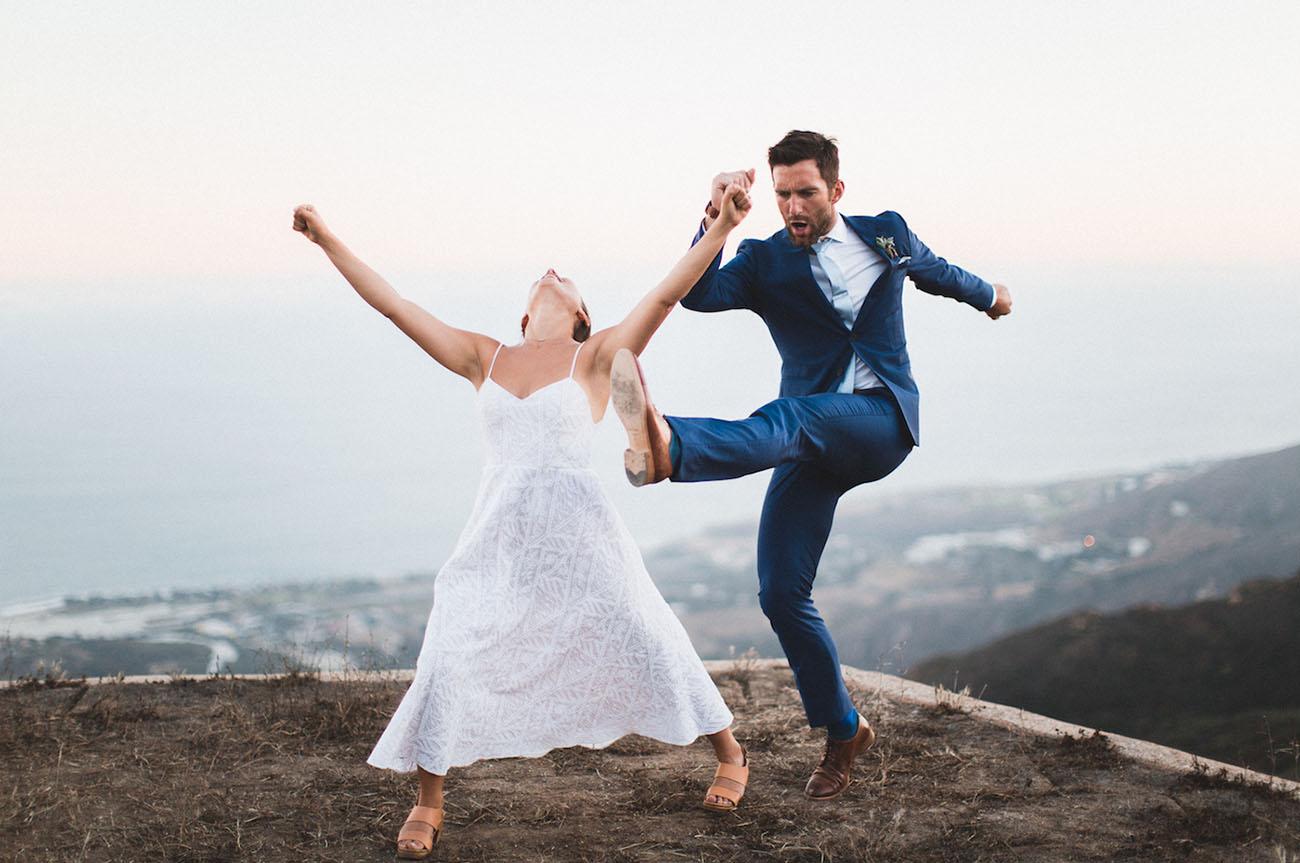 Colorful Coastal Wedding