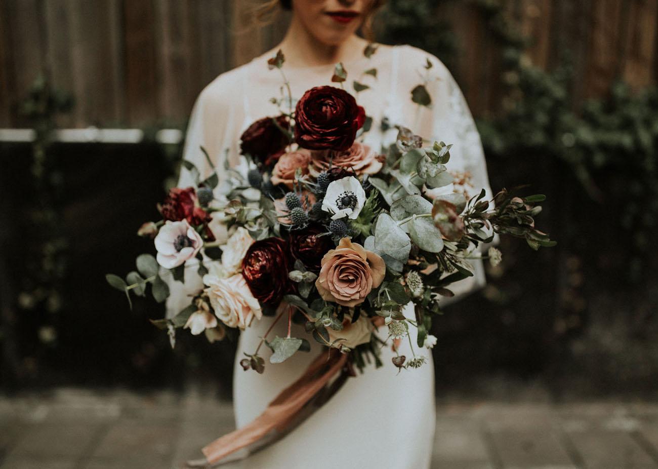 dark burgundy bouquet
