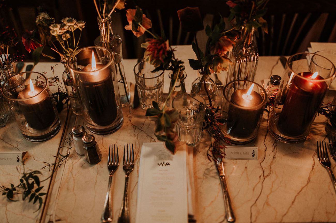 Intimate French Cafe Wedding