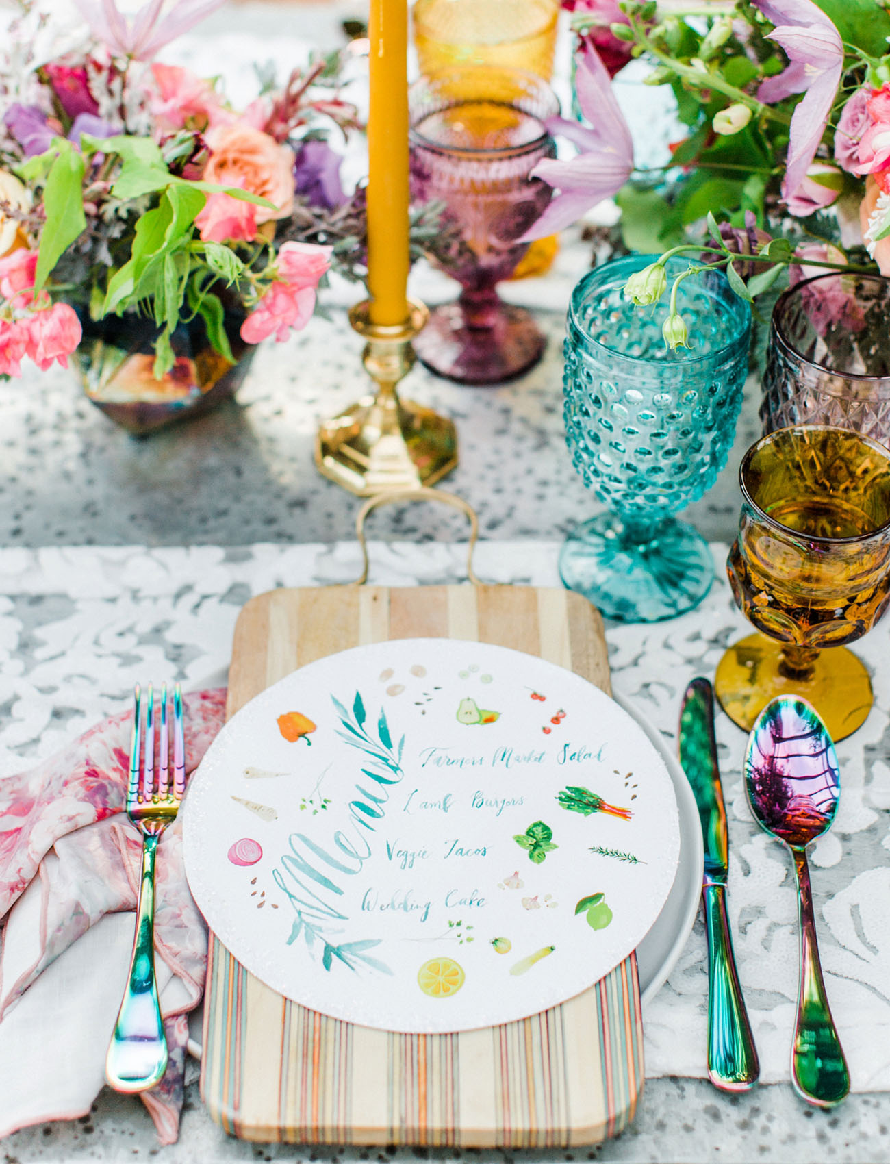 Colorful Iridescent Wedding Inspiration With Bubbles