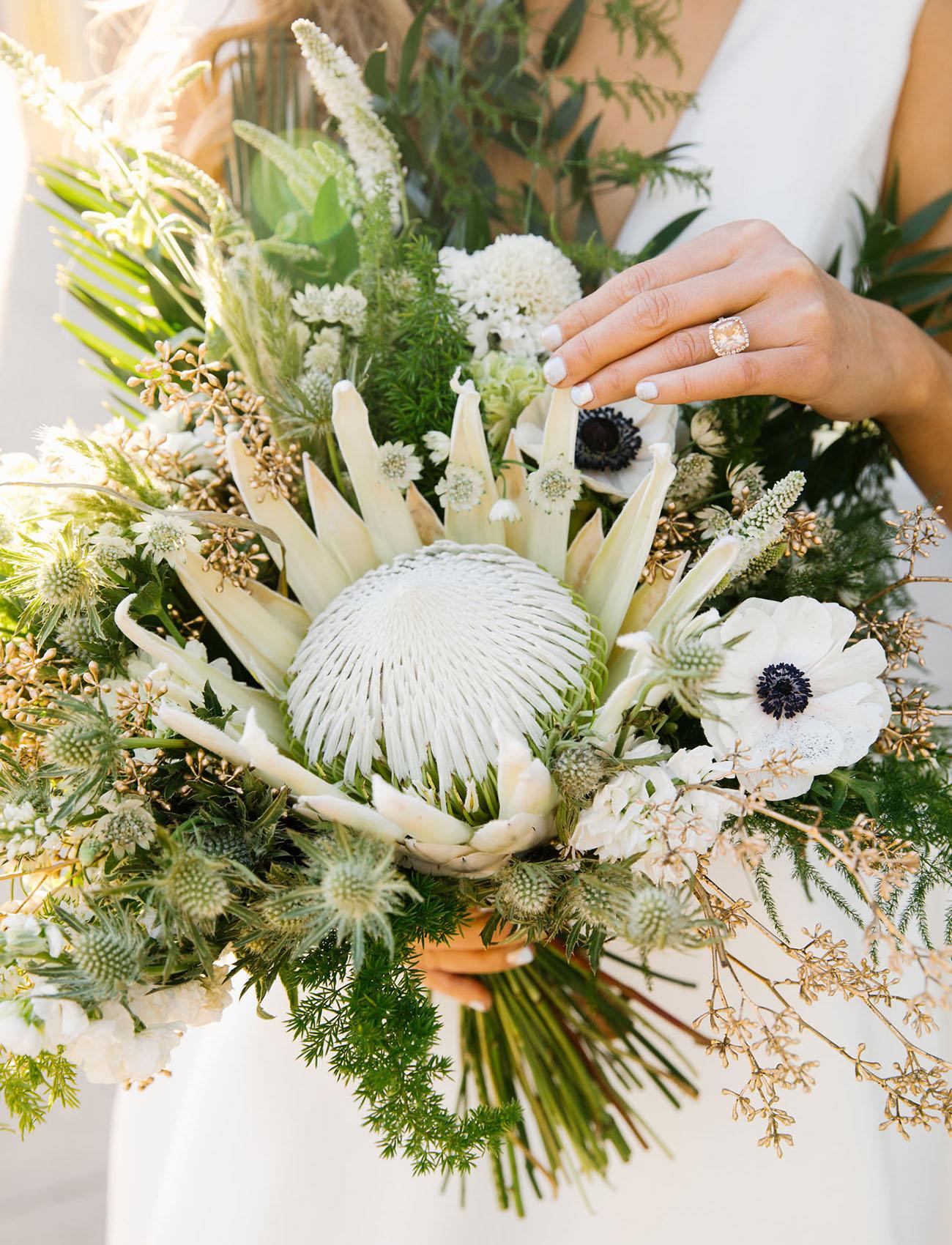 protea anemone bouquet