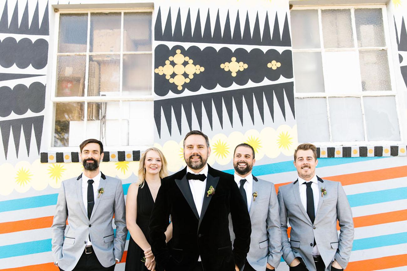 gray suit groomsmen