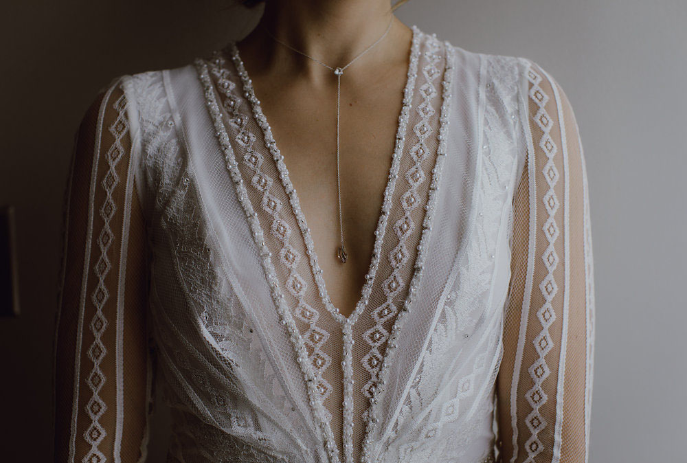 long bridal necklace