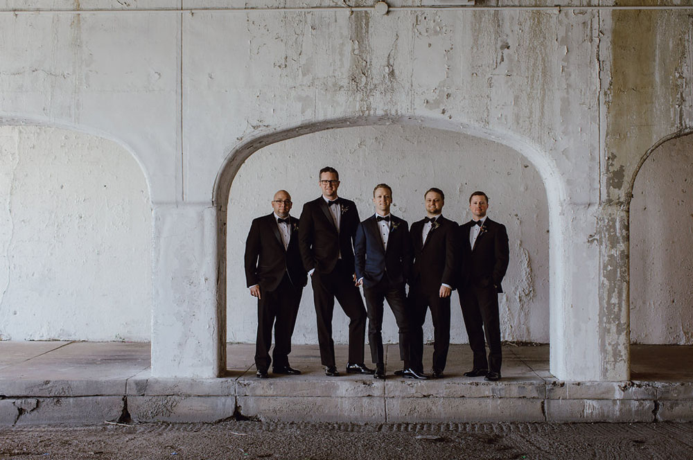 black suit groomsmen