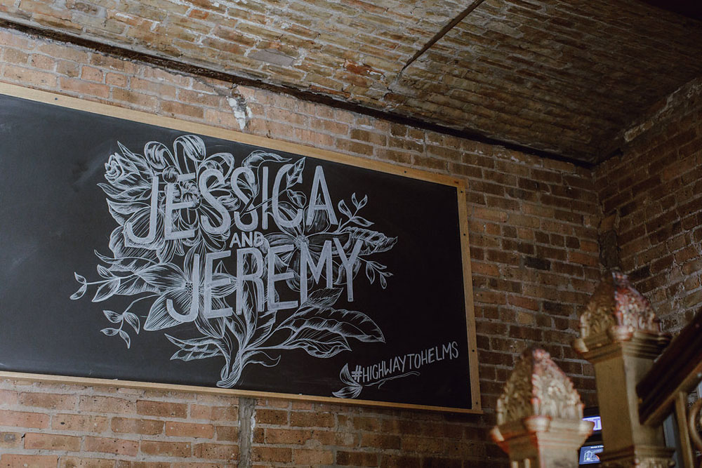 wedding chalkboard signage