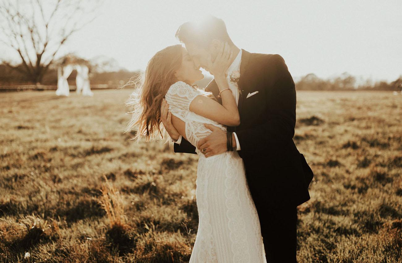 Sunset Barn Wedding