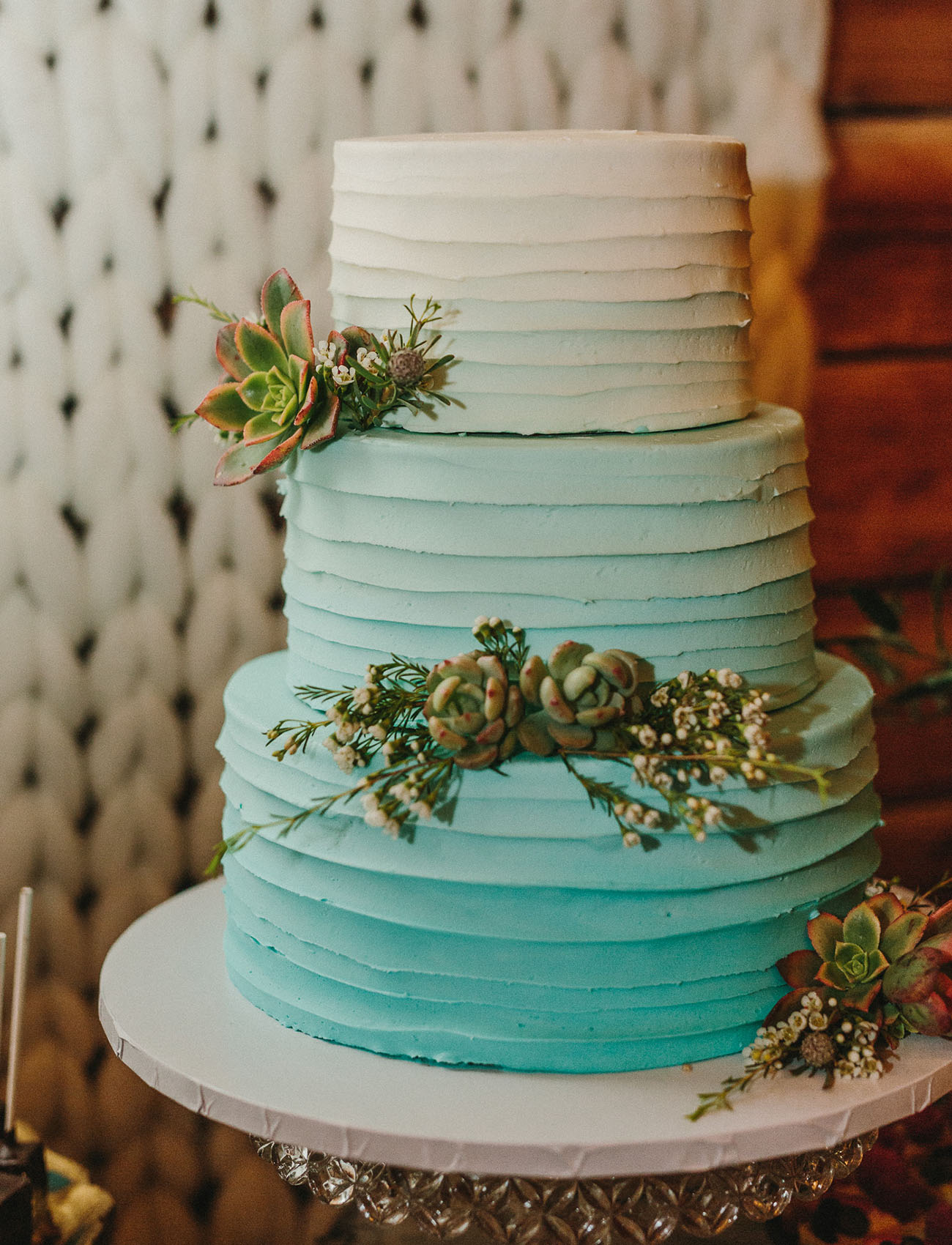 mint ombre cake