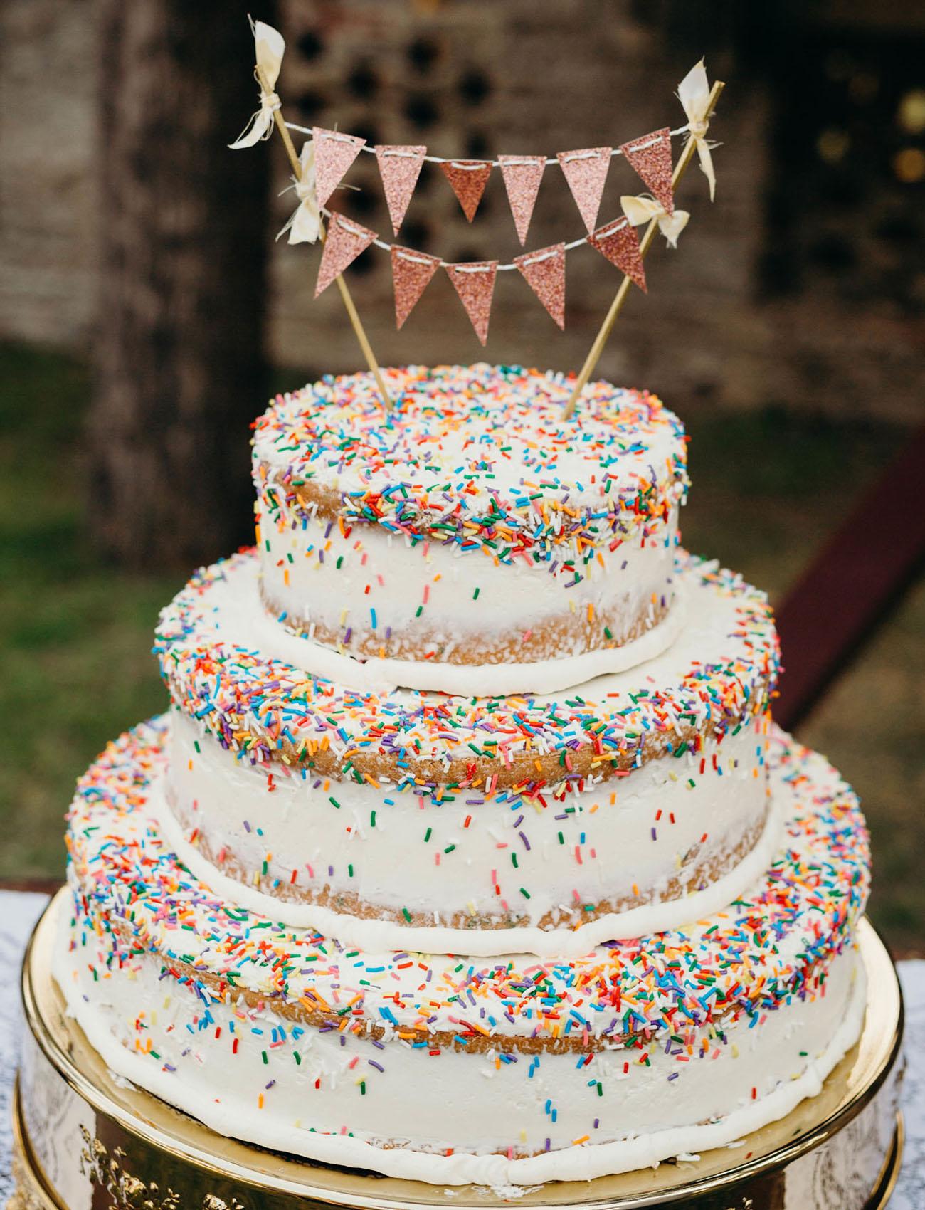 sprinkle wedding cake
